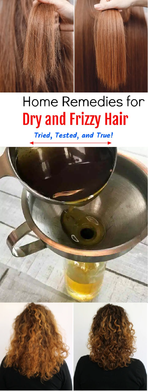 home remedy for frizzy hair