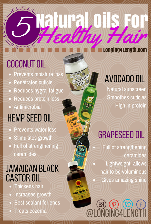 natural oils for healthy hair